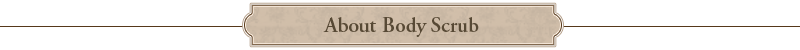 About Body Scrub